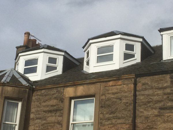 exterior of dormer loft conversion in edinburgh