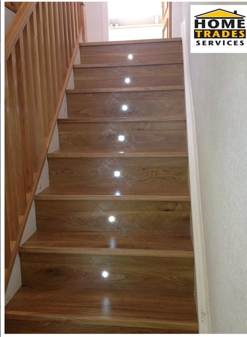 loft conversion stairs with lighting
