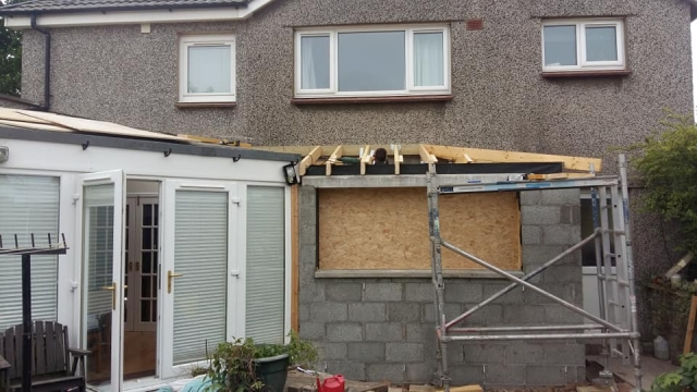 house extension roof on in edinburgh