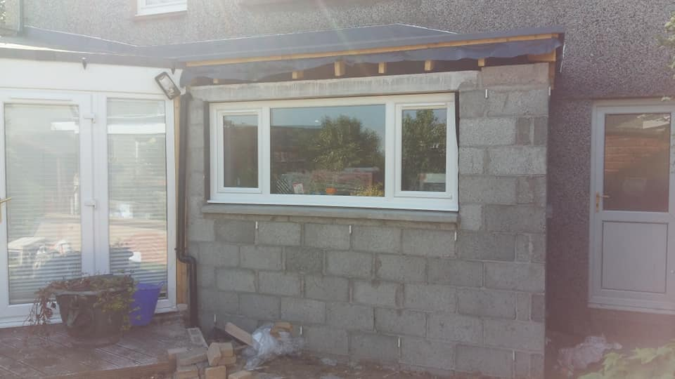 House extension edinburgh window installed