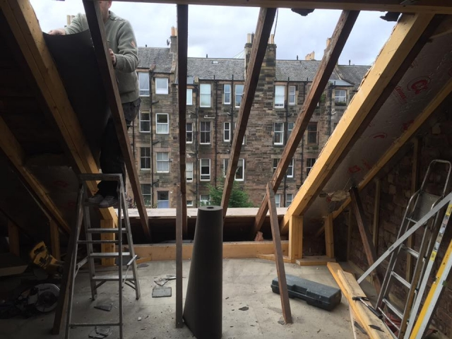 loft conversion in progress in edinburgh
