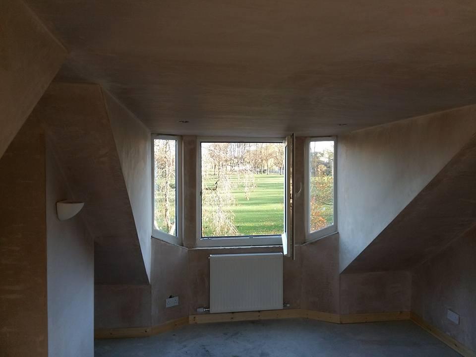 plastering of interior of loft conversion edinburgh
