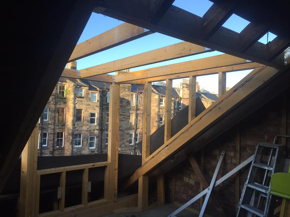 exterior new loft conversion edinburgh
