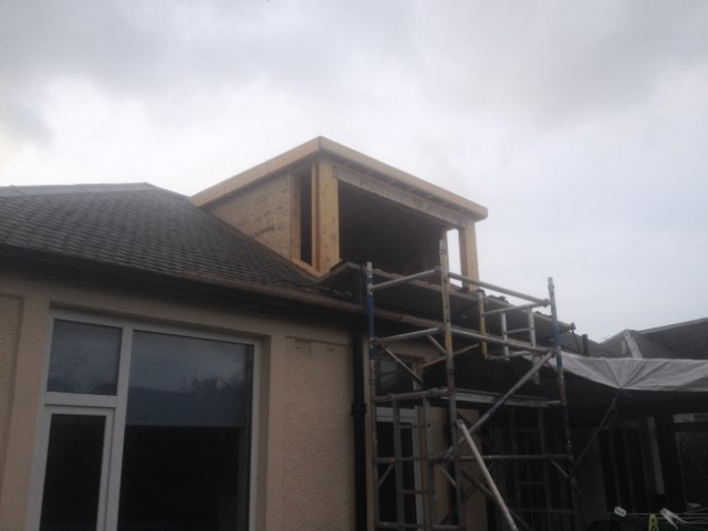 scaffolding outside loft conversion edinburgh